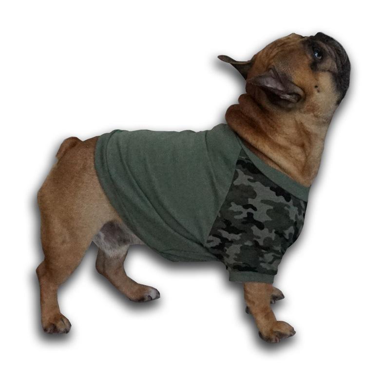 Bluza ze wzorem moro zielona